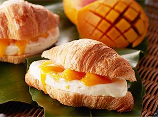 Croissant Ice-cream Sandwich Mango