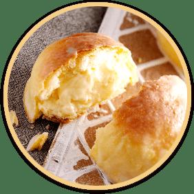 Melon-shaped bun