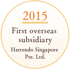 SINCE2015 First overseas subsidiary Hattendo Singapore Pte. Ltd.