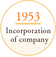 SINCE1958 Incorporation of company