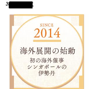 2014 海外展開の始動 初の海外催事シンガポールの伊勢丹